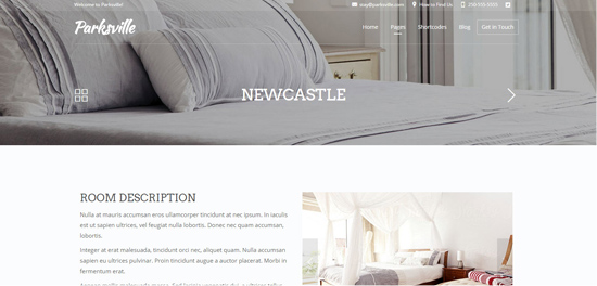 bed and breakfast web site design 02