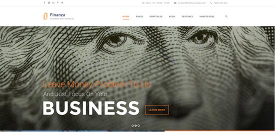 business and finance web site design